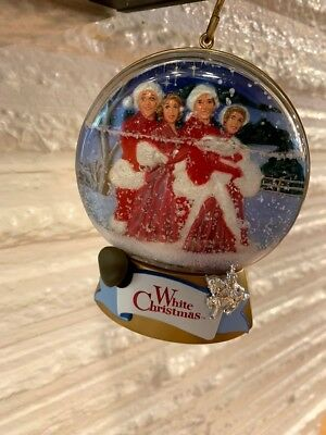 "Irving Berlin ""White Christmas""  BING CROSBY Musical Ornament Globe Rare w/box"