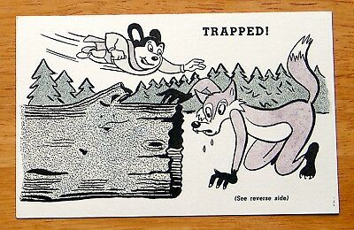 "1957 F278-16 Post - Mighty Mouse - Mystery Card #5 ""TRAPPED!"" - Near Mint"
