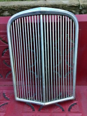 Vintage genuine Jaguar Mark XII car grill. Mark 7