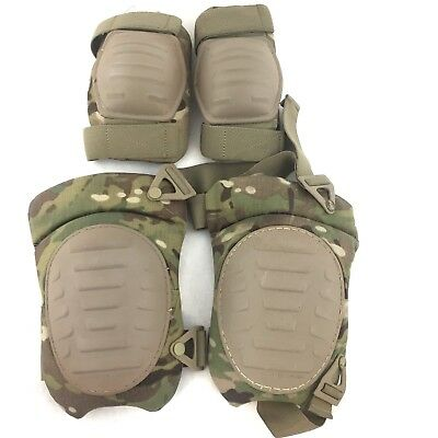 Army Multicam OCP Knee & Elbow Pad Set, Combat Military Pads, McGuire-Nicholas