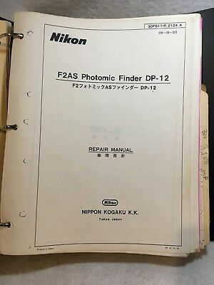 BIG LOT Nikon Lens Repair Manual Multiple Models & F2AS Photomic Finder DP-12 A+