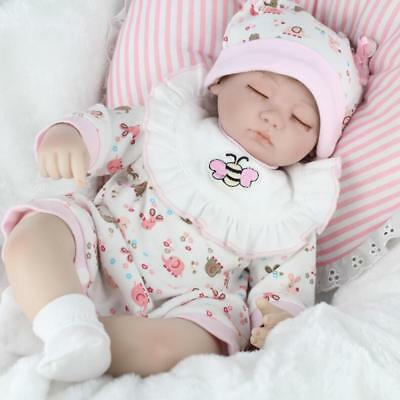 Reborn Baby Dolls Lifelike Newborn Artist Handmade Sleeping Girl Doll Gifts 16""