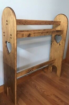 Hand Crafted Wooden Quilt Rack  ~ GunsFDesigns ~ Choose Color Stain~