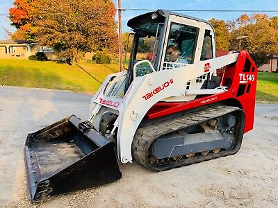 Takeuchi Tl140 Skid Steer Terrain Track Loader Full Cab Bob Cat Pilot Controls