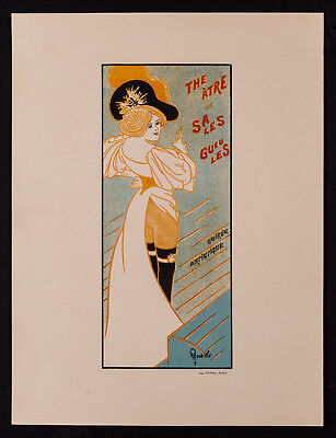 Original  A. Roubille Lithograph From Les Programmes Illustres 1897