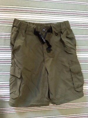 Boy Scouts Of America Green Convertible Uniform Shorts - Size YOUTH Large - BSA