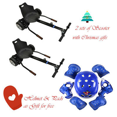 "2x  Gift 6.5"" 8"" 10"" Two wheel balance Seat Adjustable Holder Scooter Go Kart"
