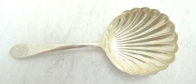 "Very Nice Skirk & Son Inc Sterling Silver Shell Berry Spoon 5"" A9414"