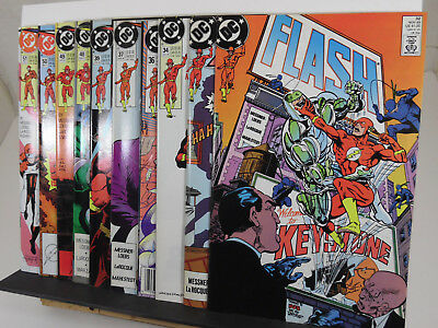 THE FLASH Lot (1989-91, DC Comics) 32 33 34 36 37 39 48 49 50 51