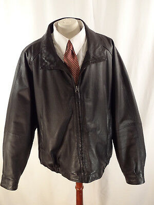 0d266a988 MENS ST JOHNS Bay Black Size Small Leather Bomber Insulated Warm ...