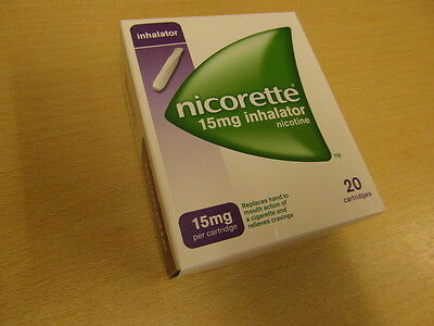 New Box Of Nicorette 15Mg Inhalator - Nicotine - 20 Cartridges