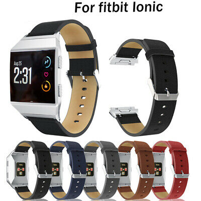 Fashion Genuine Leather For Fitbit Ionic Watch Band Strap Bracelet Replacement