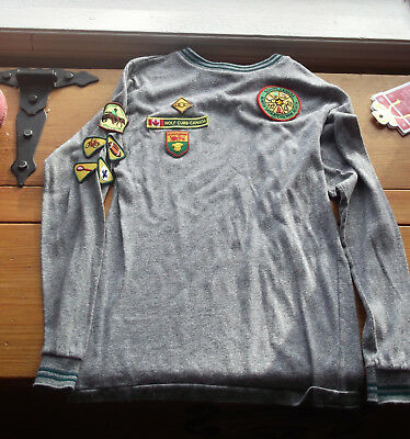 Wolf Cub SCOUT PATCHES FROM CANADA ON TSHIRT, IN VG CONDITION (AND)