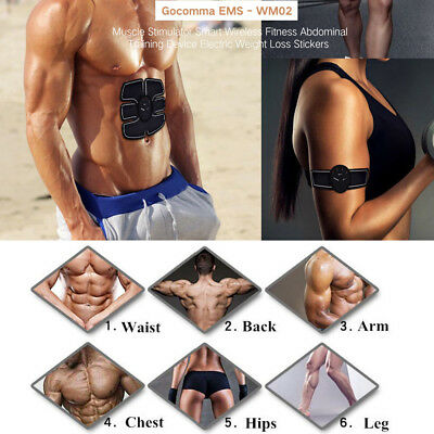 3PCS Gocomma Muscle Stimulator Smart Wireless Fitness Abdominal Training Device