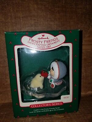 Hallmark 1987 Frosty Friends Eskimo & Seal Ornament