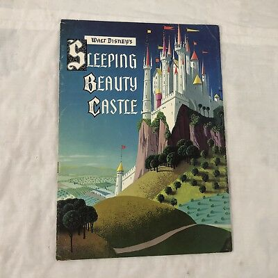 Vtg Walt Disney Disneyland 1957 Sleeping Beauty Castle Fold-out Brochure