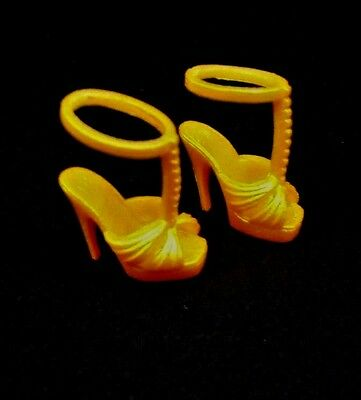 Barbie Shoes Model Muse The Look Pool Chic Collector Doll Gold Heels Footwear