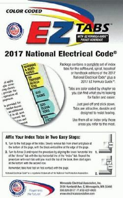 2017 Color Coded EZ Tabs for NEC Code Book NFPA - Free & Fast Shipping + Extras