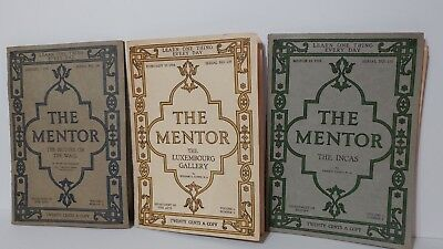 LOT OF 3 The Mentor Magazine JANUARY, FEBRUARY, MARCH 1918. GUC