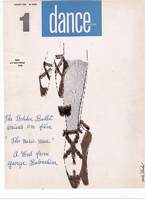 """1958 Andy Warhol """"Dance Magzine Cover Illustration Reproduction"""