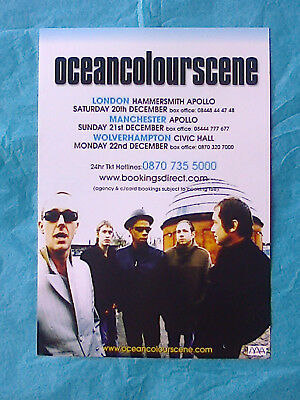 ocean colour scene ORIGINAL PROMOTIONAL FLYER MANCHESTER. VERY RARE