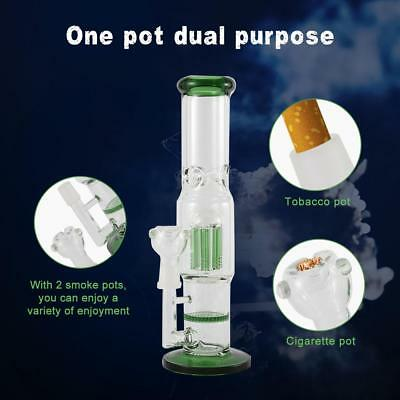 Hookah Smoking Glass Water Bong Recycler Filter Tobacco Pipe Glassware AU Ship