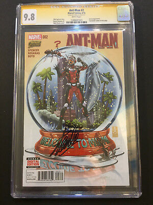 Ant-Man #2 2015 Brooks Cover CGC 9.8 SS STAN LEE Signed