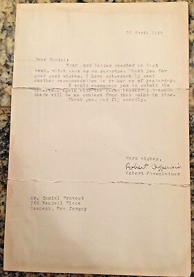 Robert Oppenheimer Original signature, Typed Letter to unknown person April 1949