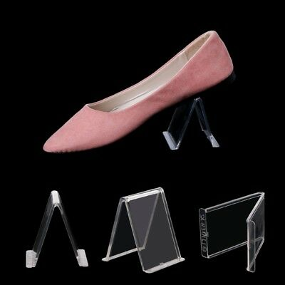 2PCS V Shape Protection Clear Acrylic Shoes Retail Display Stand Rack Holder
