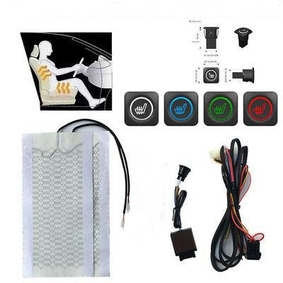 Universal Car Seat Heater Pad Under Seat Thermo Cover + LED Swtich Harness 1Seat