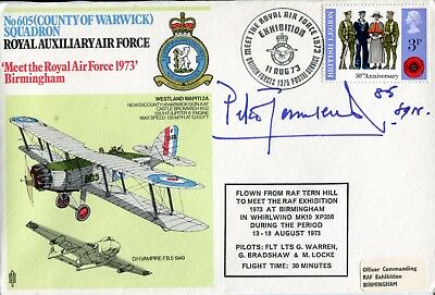 WW2 Battle of Britain ace Group Captain Peter Townsend signed cover