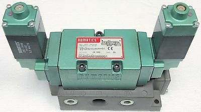 Numatics 554BB431M000061 Mark 55 Double Solenoid Pilot Valve, 2POS/4WAY, 24VDC