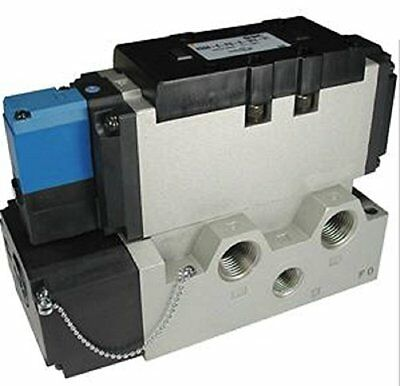 SMC Corporation VSR8-8-FG-S-1Z Pneumatic Air Valve, Size 2, ISO Solenoid Plug