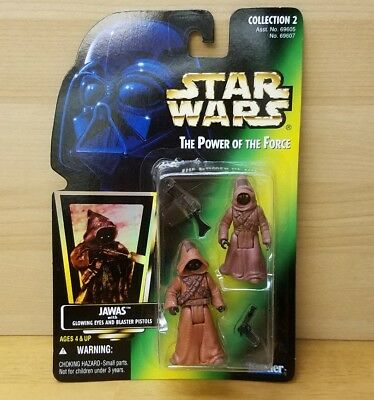 New 1996 Kenner Star Wars: Power of the Force Jawas Glowing Eyes Holo Card