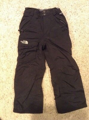 Girls THE NORTH FACE Hyvent Snow Pants Black Size Youth Small 7/8