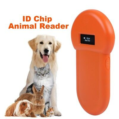 134.2Khz Animal ID Reader ISO FDX-B Chip Dog Microchip Pet Portable RFID Scanner
