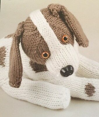 """Printed Knitting Pattern For A  Rhino Animal  Toy 9.5/"""" in height"""