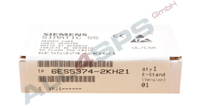 Simatic S5, Memory Card Lange Bauform 5V Only Flash-Eprom, 6Es5374-2Kh21 Ovp
