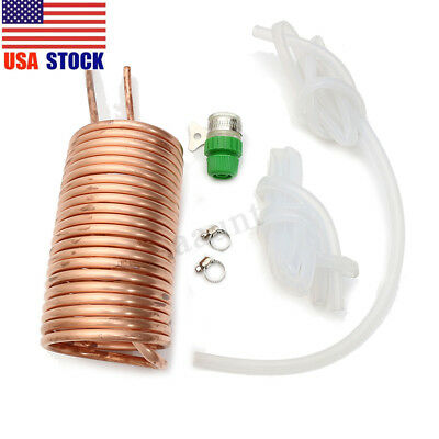 26' 8m Copper Immersion Wort Chiller Cooler Elevated Coil Home Brew Beer Tube