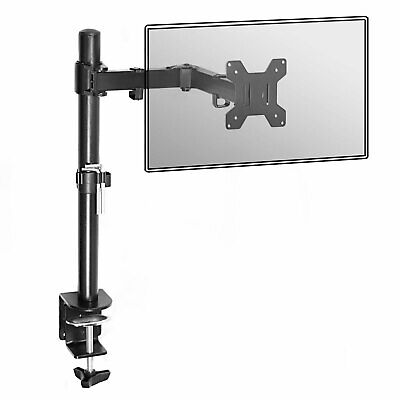 Fully Adjustable Single Arm Monitor Mount | Desk Stand Bracket with Clamp | M&W
