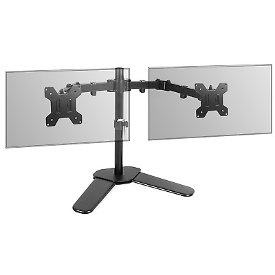 Fully Adjustable Dual Monitor Stand | Desk Stand Versatile Stable Base | M&W