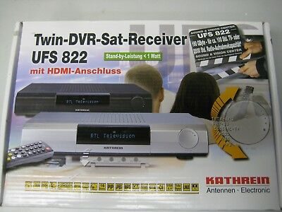 Kathrein UFS 822 TWIN-DVR-SAT-RECEIVER, NEU!!!
