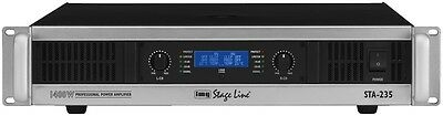 IMG Stage line STA-235 PA-Endstufe  2 x 500 Watt RMS mit Limiter Top & Neu