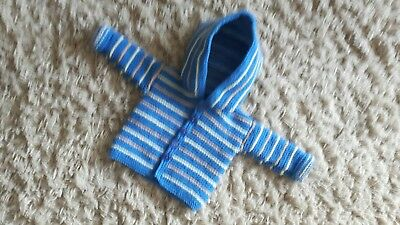 Hand Crafted Babies Hooded Knitted Jacket Age 0-3Mths