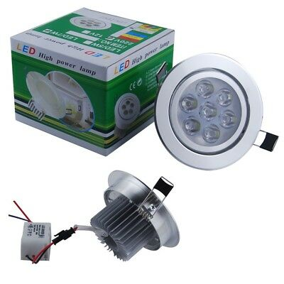 5/4/1PCS 7W LED Recessed Ceiling Lights Cabinet Lamp Downlight Cool Warm White