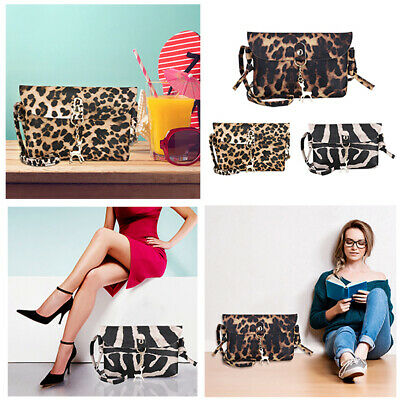 Leopard Women Ladies Bag Handbag Leather Shoulder Tote Satchel Messenger Cross