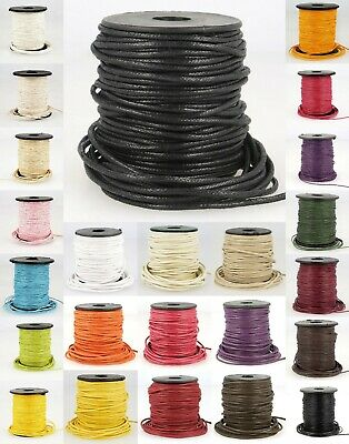 La Stephanoise 1mm / 2mm Imitation Faux Waxed Leather Cord / Thong - Jewellery