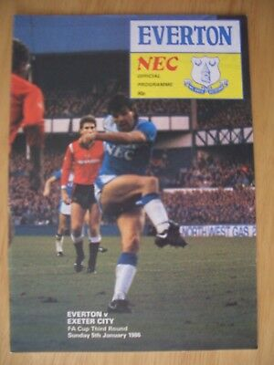 05/02/1986.....F.A.Cup 3rd Round.....EVERTON  v  EXETER  CITY.....V.G.C....