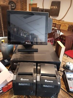 Epos Now Pro-A15 Touch Screen POS / Till System + 2 printers + extras 2017