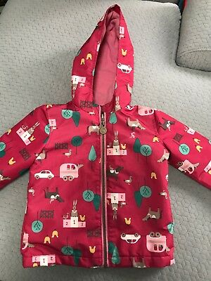 Joules Right As Rain Baby Girls Coat 18-24 Months